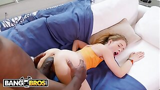 BANGBROS - Lilly Ford Handles Mandingo's Big Black Cock With Relief