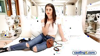 2000 dollars makes small amateur teen fuck at this casting