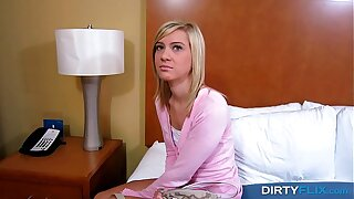 Dirty Flix - Shocked, but still prepped to fuck Chloe Brooke teen porn