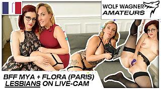 Mya and Flora enjoy naughty lesbian sex session! Otter WAGNER