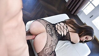Thick Dark-haired Gets Rough Pounding While Wearing Stocking